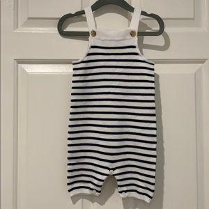 NWT Janie & Jack Striped Knit Shortall